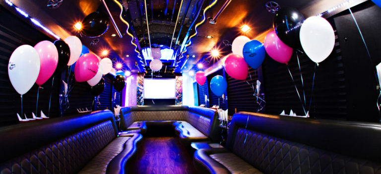 Our party bus for a birthday party in Dundalk, Ireland