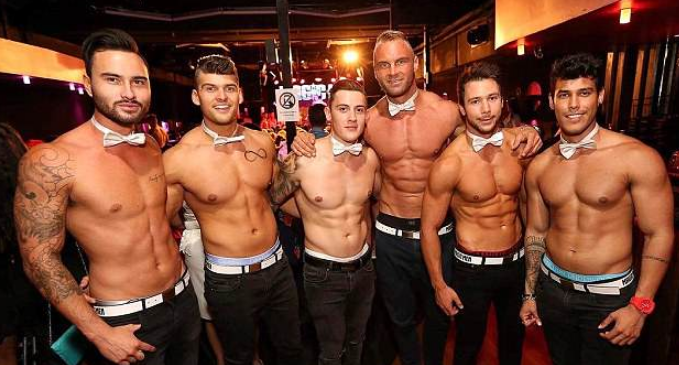 A few of our topless butlers that can be booked in Cork, Ireland
