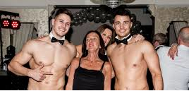 Our topless butlers entertaining a client in Edenderry, Ireland