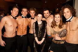 A few of our topless butlers that can be booked in Dublin, Ireland